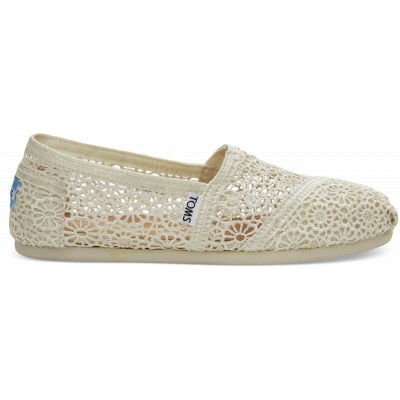 Toms classic women Natural Moroccan Crochet