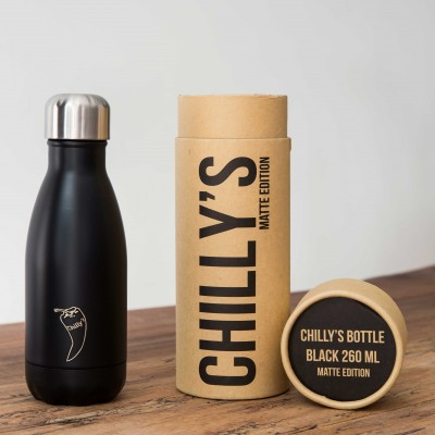Chilly's flaska Svört Mött 260 ml