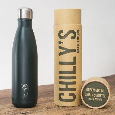 Chilly's flaska Græn Mött 500 ml