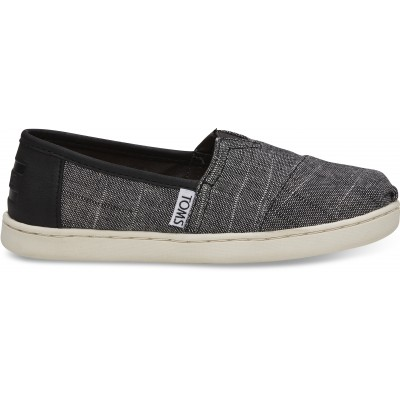 Toms classic youth Black Textured Chambray
