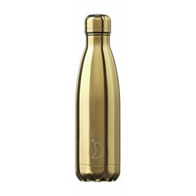 Chilly's flaska króm Gold 500 ml