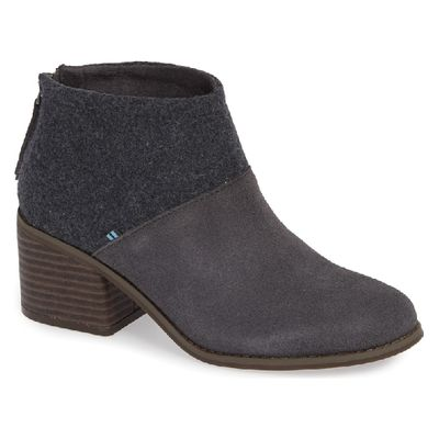Toms Lacy women Forged Iron Suede