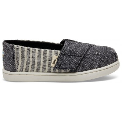 Toms tiny Black Cabana stripe
