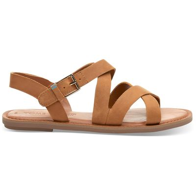 Toms Sicily Sandals women Tan leather