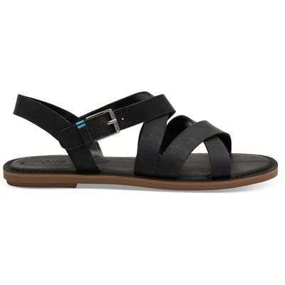 Toms Sicily Sandals women Black leather