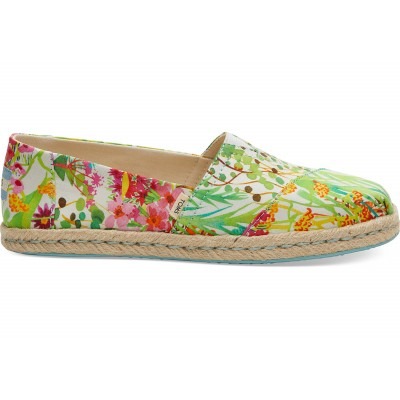 Toms classic rope women Sunshine Floral