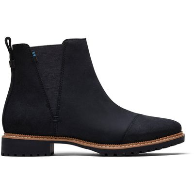 Toms Cleo women Black Leather