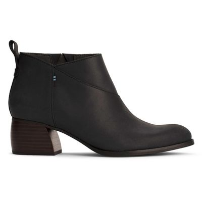 Toms Leilani Black Leather