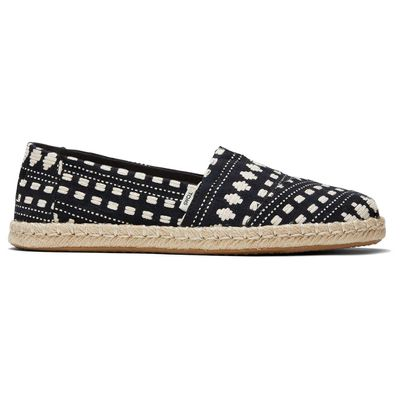 Toms Black Global Woven Women