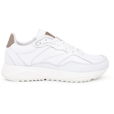 Woden Sophie Bright White Leather Sneakers