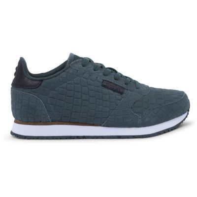 Woden Ydun Croco Green Gable Sneakers