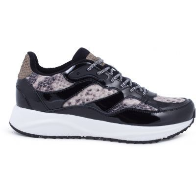 Woden Sophie Brown Snake Sneakers
