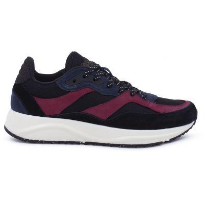 Woden Sophie Black/Navy Nubuck Sneakers