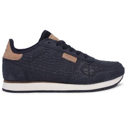 Woden Ydun Croco Black Sneakers