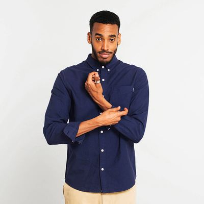 DEDICATED - Shirt Varberg Oxford - Navy