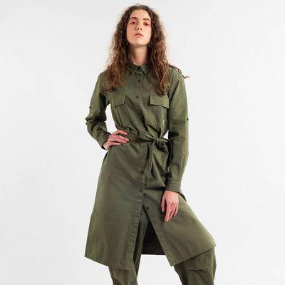 DEDICATED - Shirt Dress Trondheim - Leaf Green