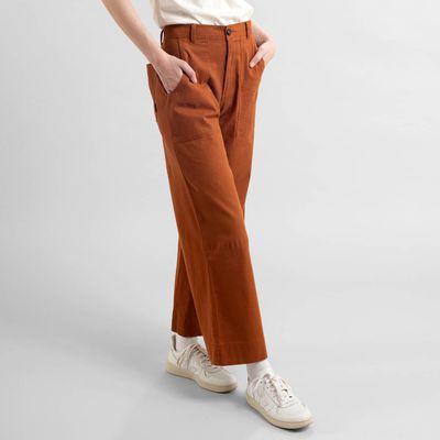 DEDICATED - Pants Workwear Vara - Mocha Brown