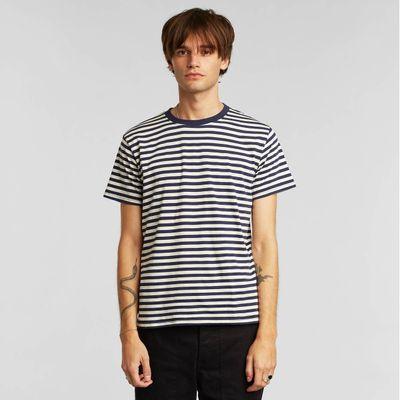 DEDICATED - T-shirt Stockholm - Stripes Navy