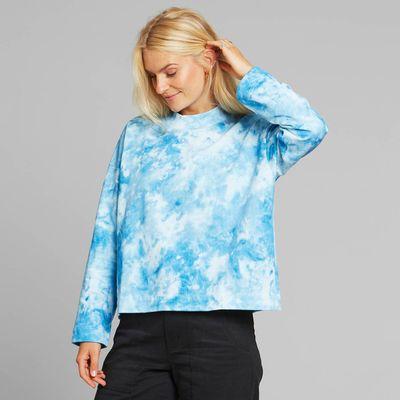 DEDICATED - Sweatshirt Lerdala - Tie Dye Blue