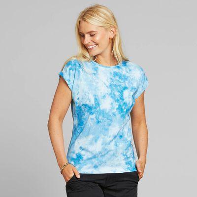 DEDICATED - T-shirt Visby Tie Dye - Blue