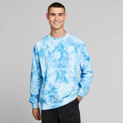 DEDICATED - Sweatshirt Malmoe - Tie Dye Blue