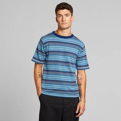 DEDICATED - Short Sleeve -  Knitted T-shirt Husum - Denim Blue