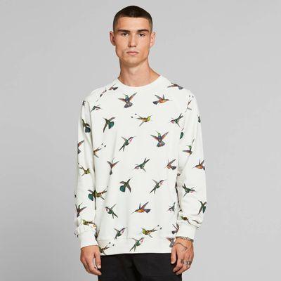 DEDICATED - Sweatshirt Malmoe - Hummingbirds Off-White