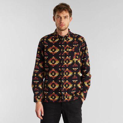 Dedicated - Shirt Rute - Ikat Flannel black