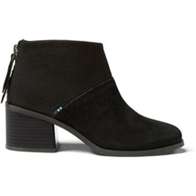 Toms Lacy women Black Suede