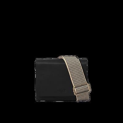 O MY BAG - Audrey Mini - Black Checkered Classic Leather