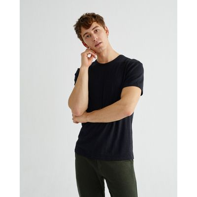 THINKING MU -  BASIC BLACK - HEMP T-SHIRT