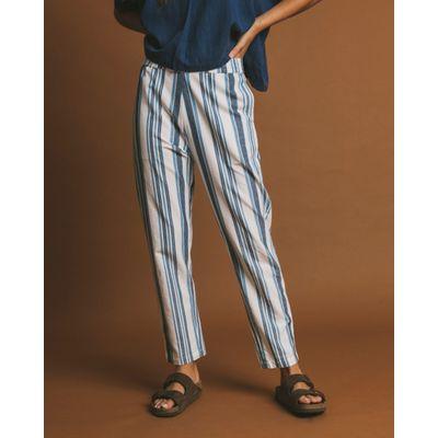THINKING MU - BLUE STRIPES - ELLA PANTS