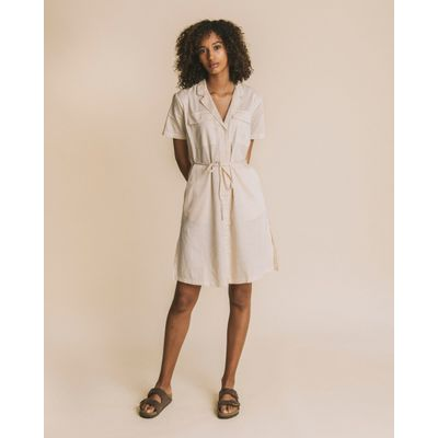 THINKING MU - CUADROS SAND - KAREN DRESS