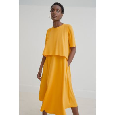 KOWTOW - DOUBLE LAYER DRESS - GULUR