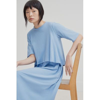 KOWTOW - DOUBLE LAYER DRESS - LJÓSBLÁR