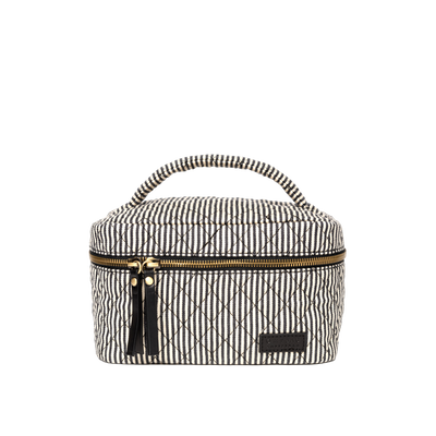 O MY BAG -  Elise Makeup Bag - Cotton Black Classic Leather