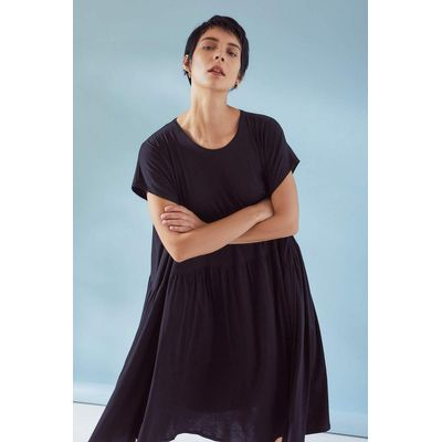 KOWTOW - GATHER DRESS - SVARTUR
