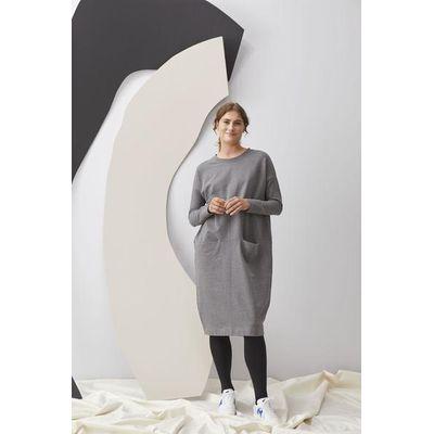 PAPU - GIANT SPLIT DRESS - MELANGE GREY