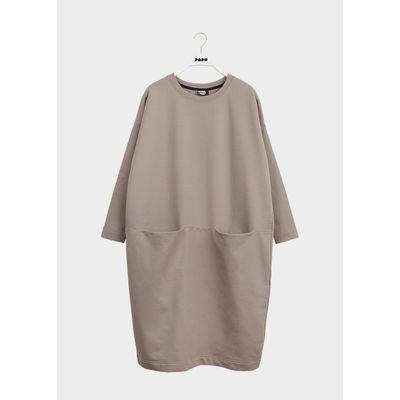 PAPU - GIANT SPLIT DRESS - Vole Grey
