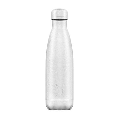 Chilly's flaska Glitter White 500 ml