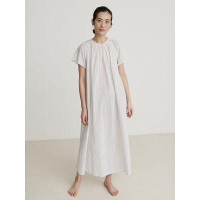 SKALL STUDIO -   Pisa Dress White - Grey Stripe