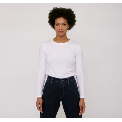 ORGANIC BASICS - Organic Cotton Long-Sleeve Tee - White