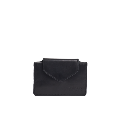 O MY BAG -  Harmonica Wallet - Black Classic Leather