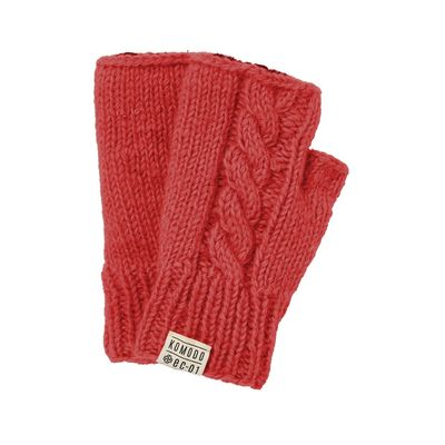 KOMODO - DANCER - Hand Knitted Lambswool Mittens Flame