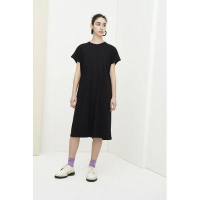KOWTOW -  FOLDING DRESS - SVARTUR