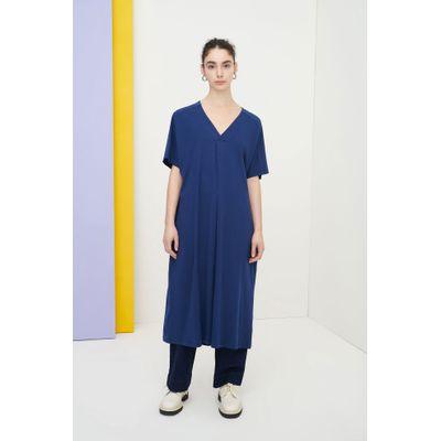 KOWTOW - PLEAT DRESS - BLÁR