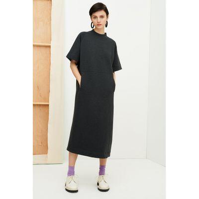 KOWTOW -  LINEAR T SHIRT DRESS - CHARCOAL