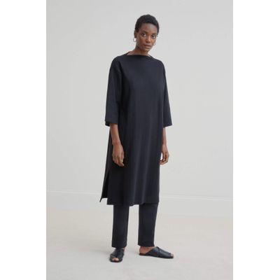 KOWTOW -  FUNNEL NECK DRESS - BLACK