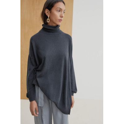 KOWTOW - GALLERY SWEATER - CHARCOAL MARLE