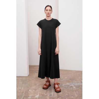 KOWTOW - CAP SLEEVE DRESS - BLACK